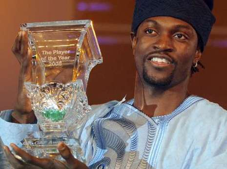adebayor ballon d'or africain 2008